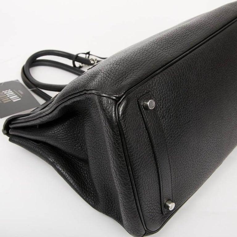 HERMES Birkin 35 Black Togo Leather Bag For Sale 1