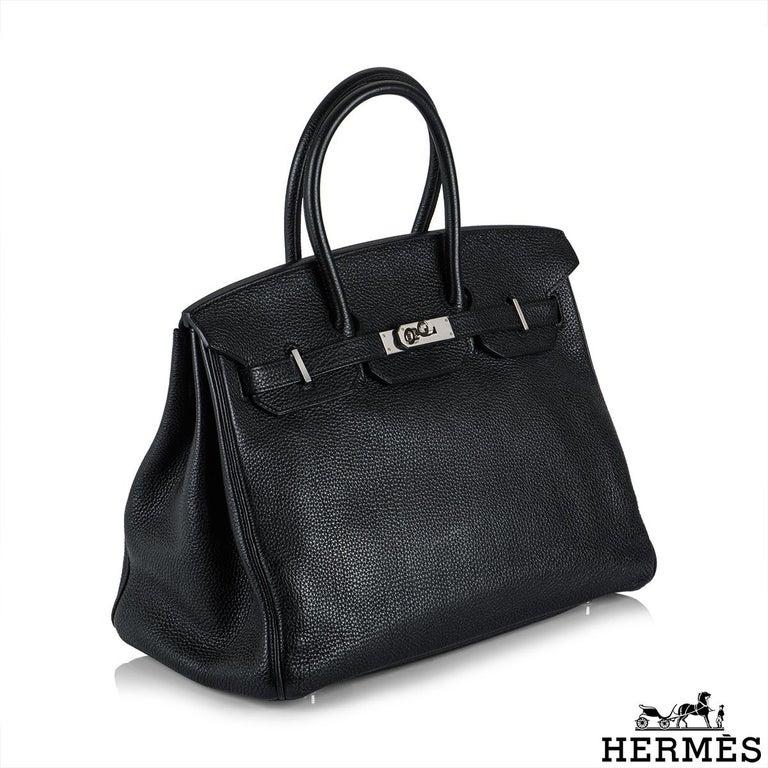 Hermès Birkin 35 Black Togo PHW In Excellent Condition For Sale In London, GB