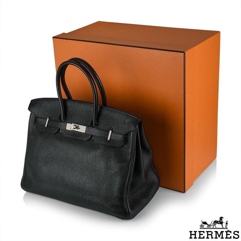 Hermès Birkin 35 Black Togo PHW For Sale 3
