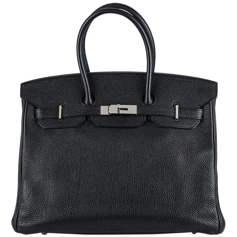 Hermès Birkin 35 Black Togo PHW For Sale