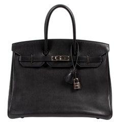 Hermès Birkin 35 Black Veau Evergrain PHW