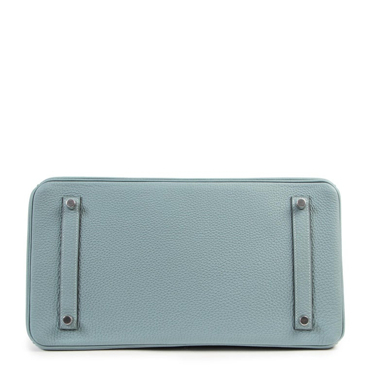 Women's or Men's Hermès Birkin 35 Bleu Ciel Togo PHW For Sale