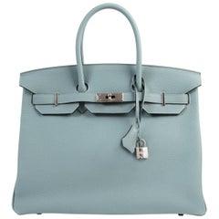 Hermès Birkin 35 Bleu Ciel Togo PHW