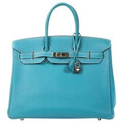 Hermès Birkin 35 Bleu Jean Togo PHW