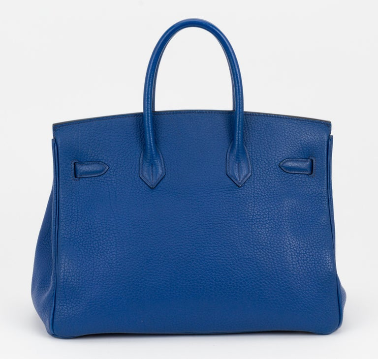 Hermes Birkin 35 Blue De France Togo In Good Condition In West Hollywood, CA