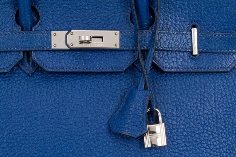 Hermes Birkin 35 Blue De France Togo 2