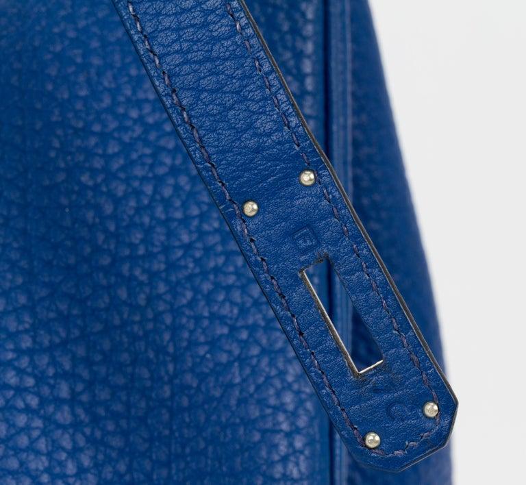 Hermes Birkin 35 Blue De France Togo 3