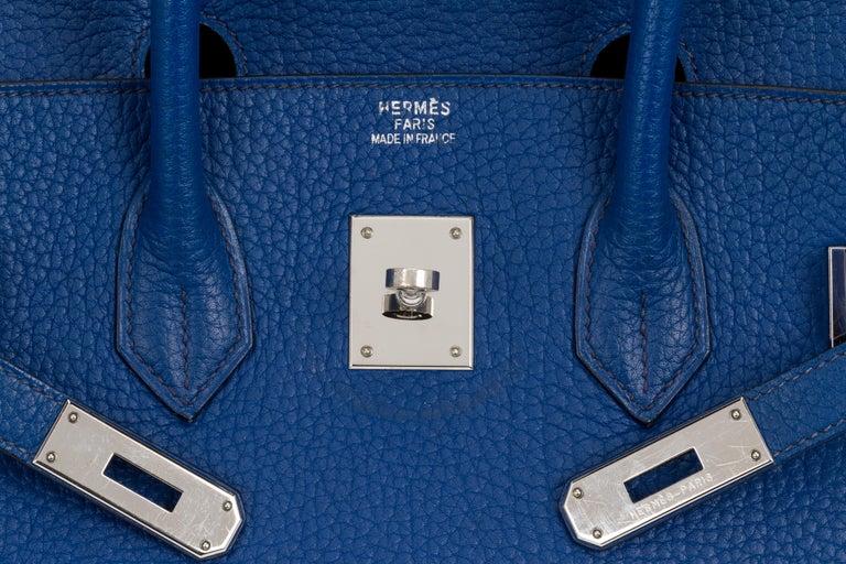 Hermes Birkin 35 Blue De France Togo 4