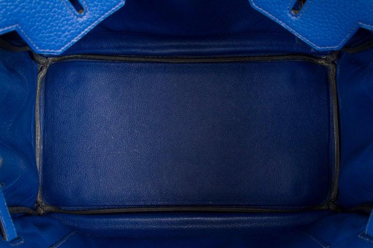 Hermes Birkin 35 Blue De France Togo 5