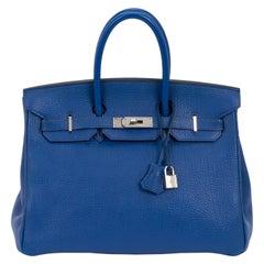 Hermes Birkin 35 Blue De France Togo