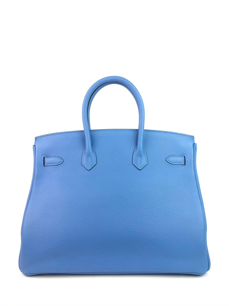 Women's or Men's Hermes Birkin 35 Blue Paradise Palladium Hardware
