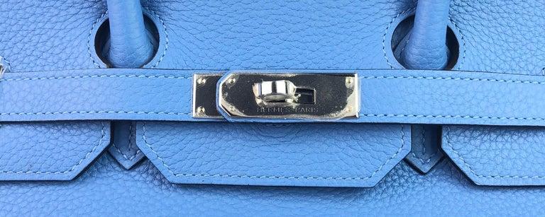 Hermes Birkin 35 Blue Paradise Palladium Hardware 1