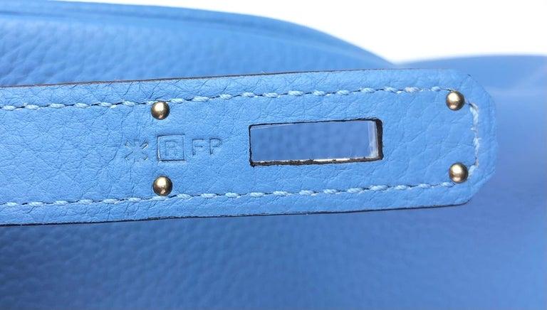 Hermes Birkin 35 Blue Paradise Palladium Hardware 4