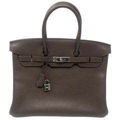 Hermes Birkin 35 Cafe Brown Bag