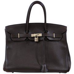 Hermès birkin 35 dark chocolate