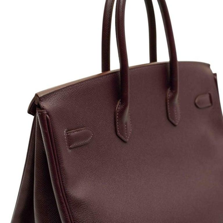 HERMES Birkin 35 Epsom Grape Bag For Sale 5