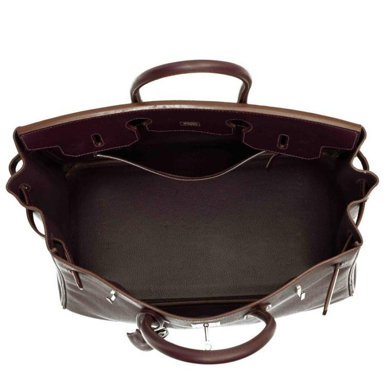 HERMES Birkin 35 Epsom Grape Bag For Sale 7