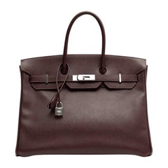 HERMES Birkin 35 Epsom Grape Bag