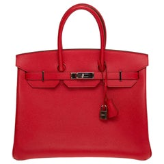 Hermés birkin 35 Epson Rouge Coeur handle bag