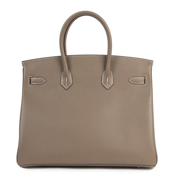 Hermès Birkin 35 Etoupe Epsom PHW For Sale 1
