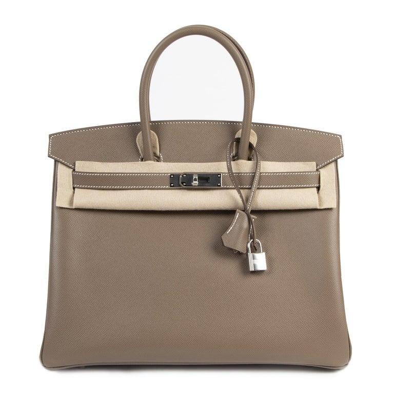 Hermès Birkin 35 Etoupe Epsom PHW For Sale 3