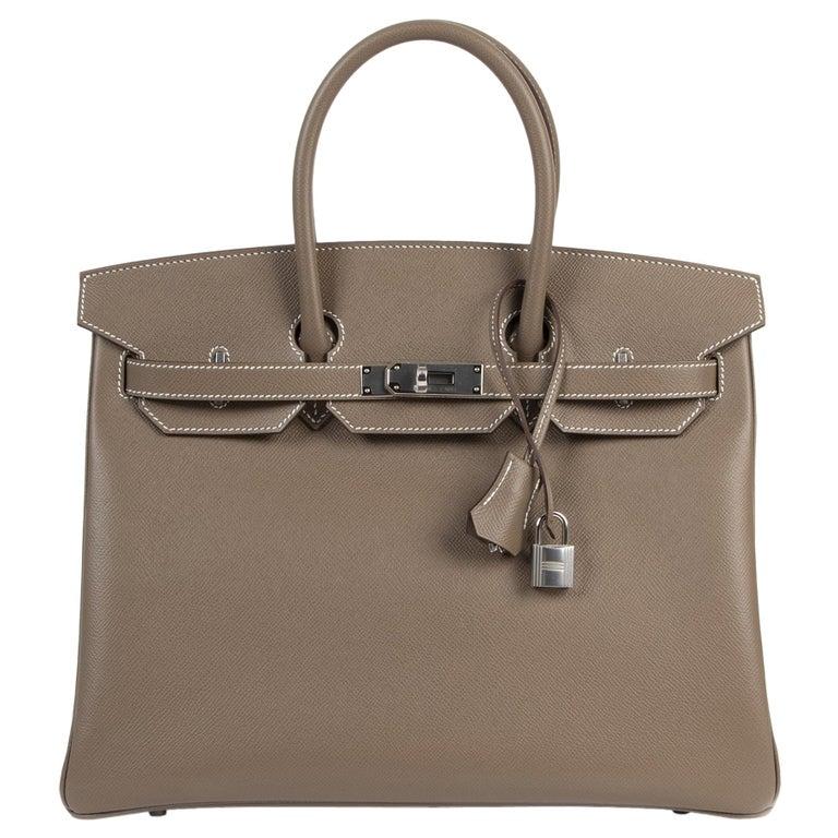 Hermès Birkin 35 Etoupe Epsom PHW For Sale