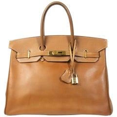 Hermès Birkin 35 Gold Epsom GHW