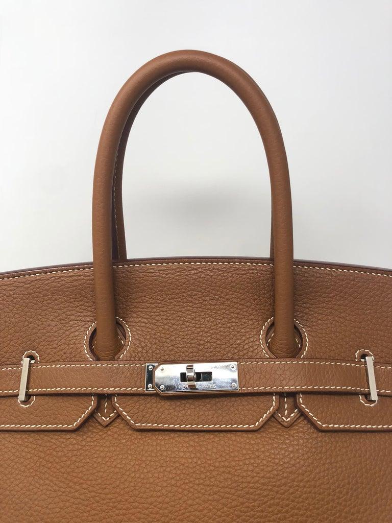 Women's or Men's Hermes Birkin 35 Gold Palladium hardware  For Sale