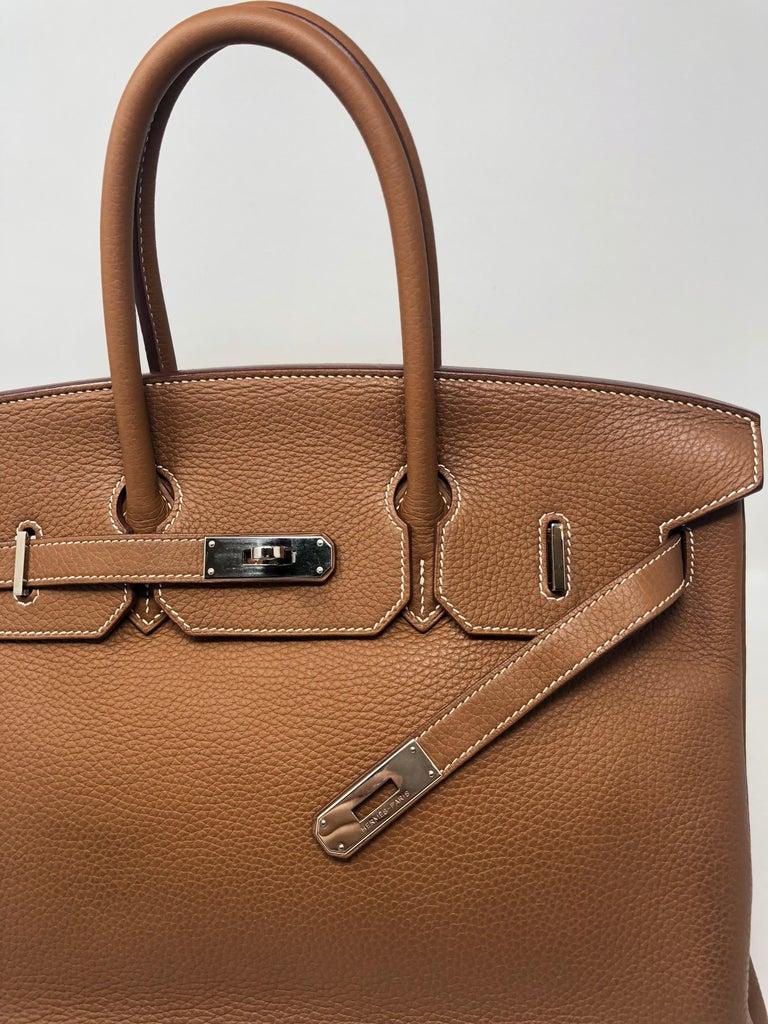Hermes Birkin 35 Gold Palladium hardware  For Sale 3