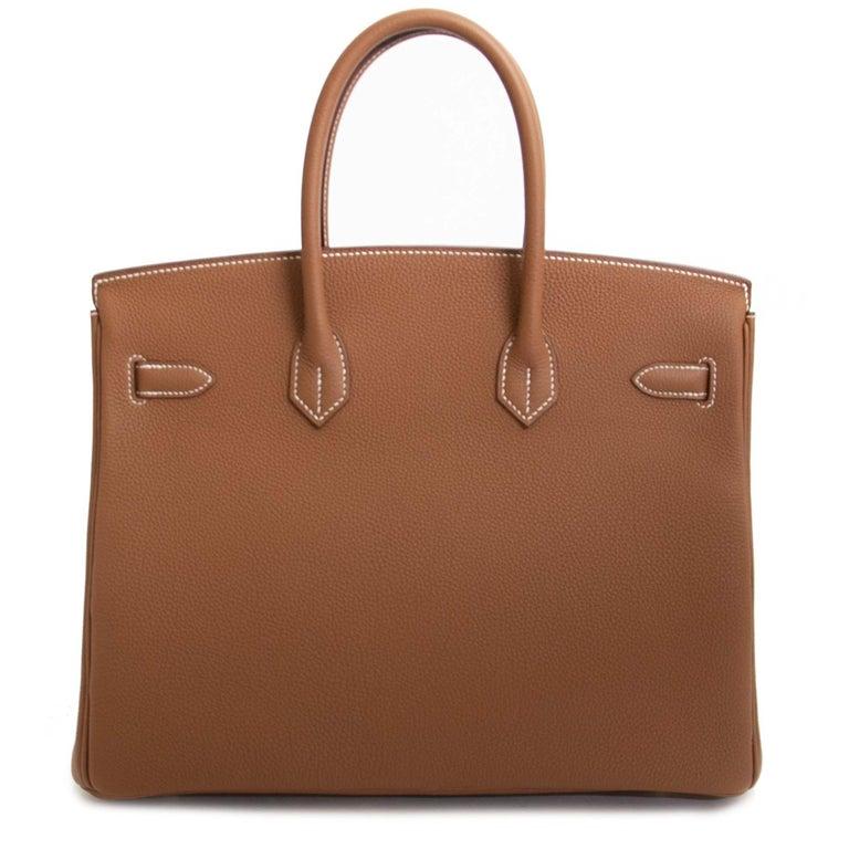 Women's or Men's Hermès Birkin 35 Gold Togo PHW For Sale