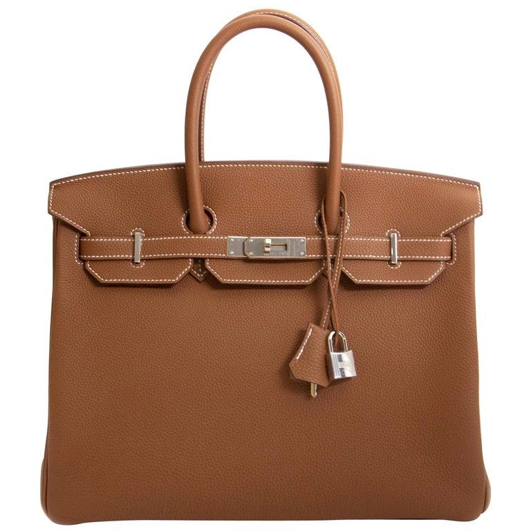 Hermès Birkin 35 Gold Togo PHW For Sale