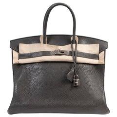 Hermès Birkin 35 Graphite Taurillon Clemence PHW