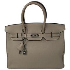 Hermes Birkin 35 Gris Tourterelle Etoupe Special Order Bag