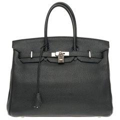 Hermès Birkin 35 handbag in Black Togo leather, Palladium hardware !