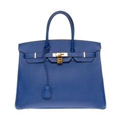 Hermès Birkin 35 handbag in bleu électrique epsom leather, GHW