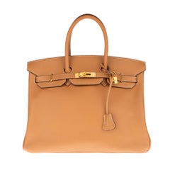 Hermès Birkin 35 handbag in gold epsom leather, GHW, very good condition !