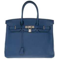 Hermès Birkin 35 handbag in Togo leather with Silver hardware !