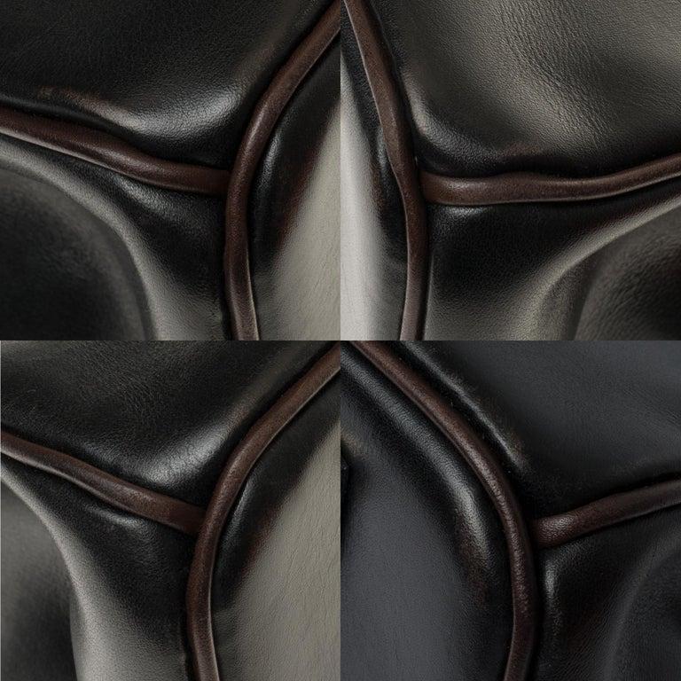 Hermès Birkin 35 handbag special order bicolor in black and brown calfskin, PHW For Sale 5