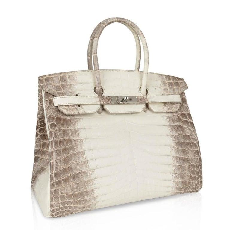 Women's Hermes Birkin 35 Himalaya Blanc Crocodile Palladium Hardware For Sale