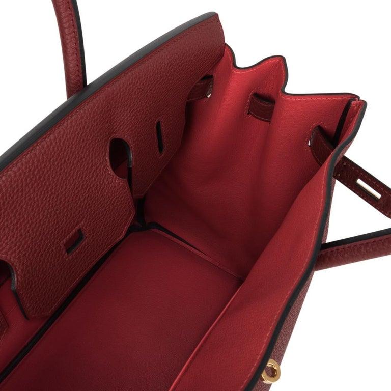 Hermes Birkin HSS 35 Bag Rouge H Bougainvillea Togo Gold Hardware For Sale 5