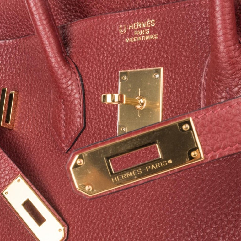 Guaranteed authentic Hermes Birkin HSS 35 Special Order bag. This beauty features Rouge H with Bougainvillea piping and interior. Togo leather and lush gold hardware. Comes with lock, keys and clochette, and sleeper.  New  or Never Worn.   final