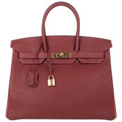 Hermes Birkin 35 HSS Bag Rouge H Bougainvillea Togo Gold Hardware