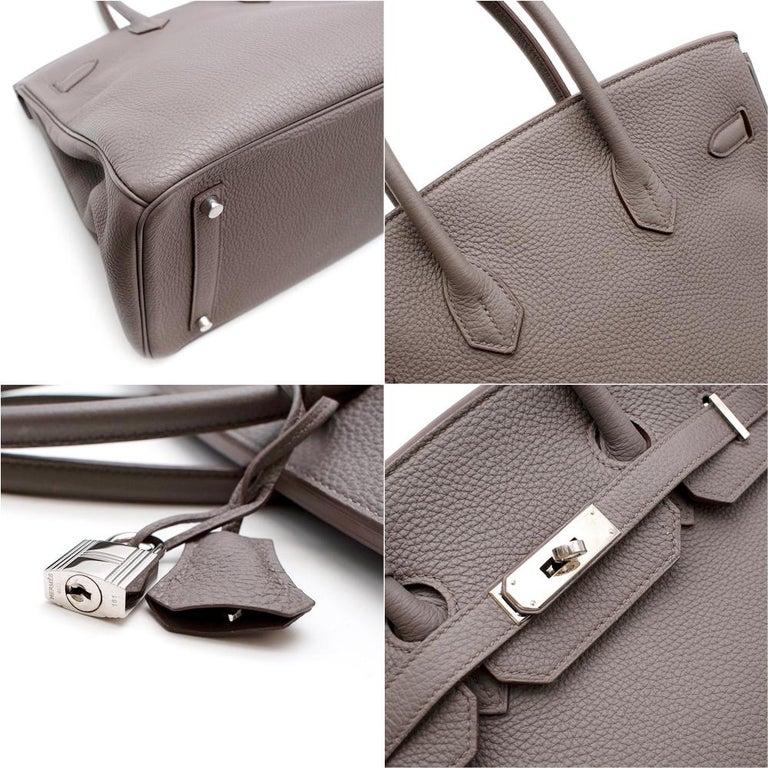 Hermès Birkin 35 in Etain Togo Leather PHW For Sale 1