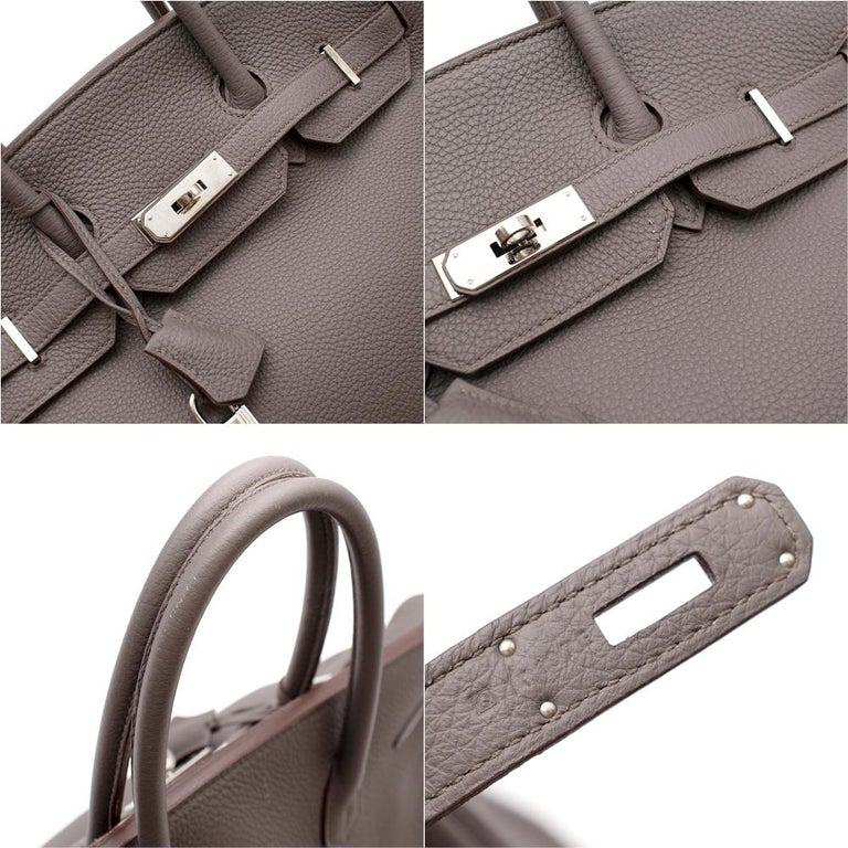 Hermès Birkin 35 in Etain Togo Leather PHW For Sale 2