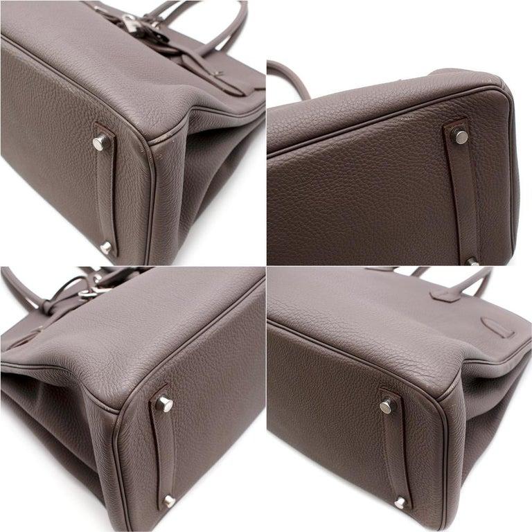 Hermès Birkin 35 in Etain Togo Leather PHW For Sale 4