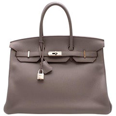 Hermès Birkin 35 in Etain Togo Leather PHW