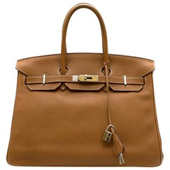 Hermès Birkin 35 in Gold Togo Leather GHW