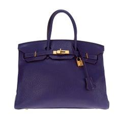 Hermès Birkin 35 in Togo Purple, GHW,Stamp O (2011) in very good condition!
