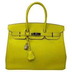 Hermès Birkin 35 Lime Candy Bag