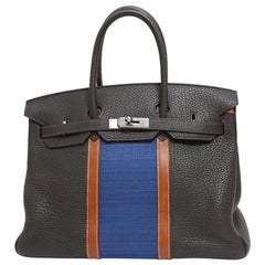 Hermes Birkin 35 Limited Edition Club Tri-Color Tote Handle Tote Bag
